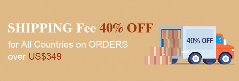 40% off Shipping fee for all countries!